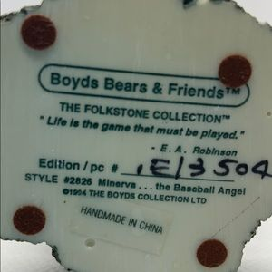 Boyds Bears Accents - Vintage Boyds Bears - Minerva The Baseball Angel